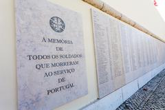 Names of the Portuguese military fallen in the African Colonial War Stock Photos