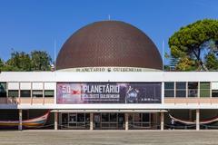 Calouste Gulbenkian Planetarium commemorating the 50th anniversary. Stock Photos