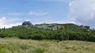 Mountain hut at Szrenica mountain. The Karkonoski National Park. Poland Stock Footage