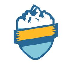 Mountain vector icon badge Piirros