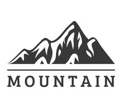 Mountain vector icon badge Stock Illustration