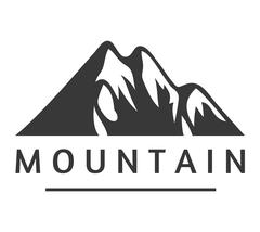 Mountain vector icon badge Stock Illustration