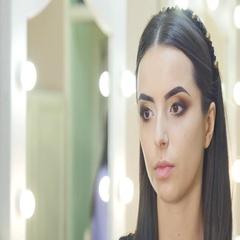 Stylist makes professional eye makeup. Beautiful model Stock Footage
