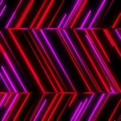 Metro Light Streaks Zig Zag Seamless Loop Red Pink Magenta Stock Footage