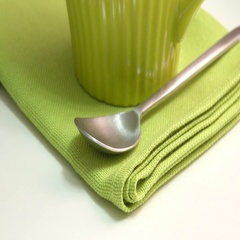 Green tea in strainer. Close up film clip with sliding motion. Stock Footage