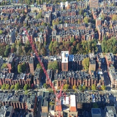 Aerial view of Boston homes and buildings Arkistovideo