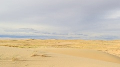 Clouds over the Sands Mongol Els, Mongolia. Full HD. Stock Footage