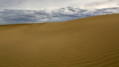 Sunset over the Sands Mongol Els, Mongolia. Full HD. Stock Footage