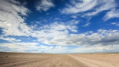 Movement of the clouds over the lake Khar-Us Nuur, Mongolia. Full HD. Stock Footage