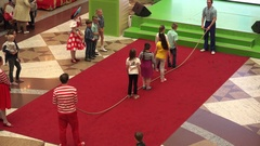 Kids department store in Moscow, Russia Stock Footage