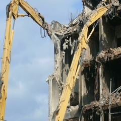 Demolition of Buildings Stock Footage