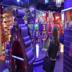 My little Pony Equestria girl in kids department store Stock Footage