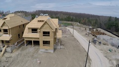 Houses under construction, Stock Footage