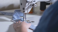 Sewing machine, close up Stock Footage