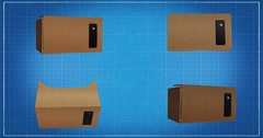 Google Cardboard -  orthogonal projections with matte alpha Stock Footage