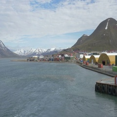 Longyearbyen Landscape Stock Footage