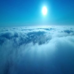 Clouds Aerial 12 Time Lapse marine layer 4K Stock Footage