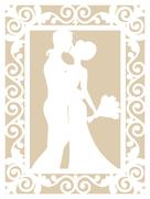 Wedding laser cut Stock Illustration