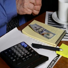Businessman Counting Money Dollars Stock Footage