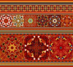 Rich ethnic seamless pattern geometric design. Mandala style. Vector illustraton Stock Illustration