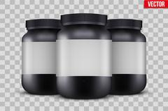 Mock-up Background of Sport Nutrition Container Stock Illustration