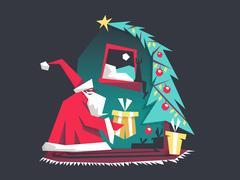 New Year holiday Stock Illustration