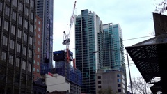 Melbourne, Skyscraper View from Street Stock Footage