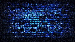Blue computer hex code Stock Footage