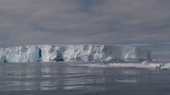 View from Zodiac on Massive Icebergs in Ross sea, Antarctica Stock Footage