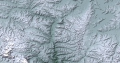 High-altitude overflight (alternate) aerial of snowy Himalayas in Southern Tibet Stock Footage