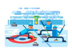 Curling winter game Piirros