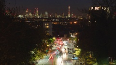 Night London view, long shot, total, time-lapse Stock Footage