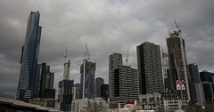Melbourne Time Lapse. Sky Scraper Stock Footage