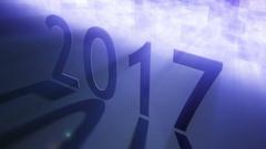 2017 year volume light effect Stock Footage