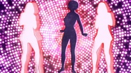 Abstract Loopable Background with nice dancing girls Stock Footage