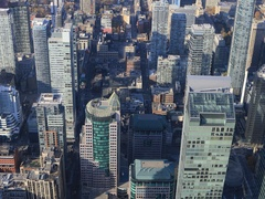 4K UltraHD Aerial view over Toronto buildings Stock Footage