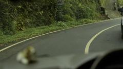 Riding through mountains of bali Island Stock Footage
