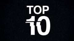 Glitchy Top 10 Countdown Stock Footage
