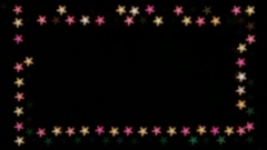 Frame for design from flickering stars Stock Footage