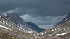 Gloomy north mountains 4K Stock Footage