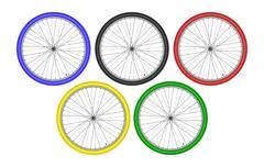 Bike Athletes Sporting Championship International Competition. Sport  Race Stock Illustration