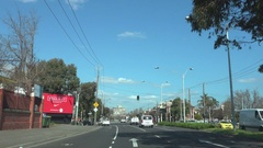 Melbourne St Kilda, Street Car View Stock Footage