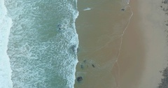 Tropical Beach and Ocean Waves Top View Stock Footage