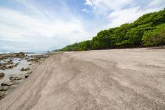 Tropical beach at santa teresa costa rica Stock Photos