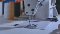 Sewing machine - sewing process in the phase of sewing Stock Footage
