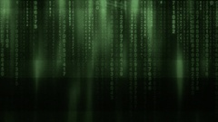 Matrix code rain dotty green Stock Footage