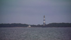 Cape Lookout, NC Lighthouse Stock Footage