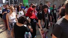 Last horde of zombies third pack Stock Footage