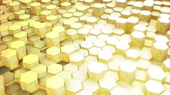Hexagons Blocks Moving Up and Down 3d render Loop Full HD Stock Footage