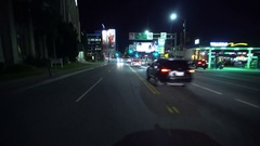 4K Driving Plates Hollywood Highland Ave Rear View 04 South bound turn onto F Stock Footage